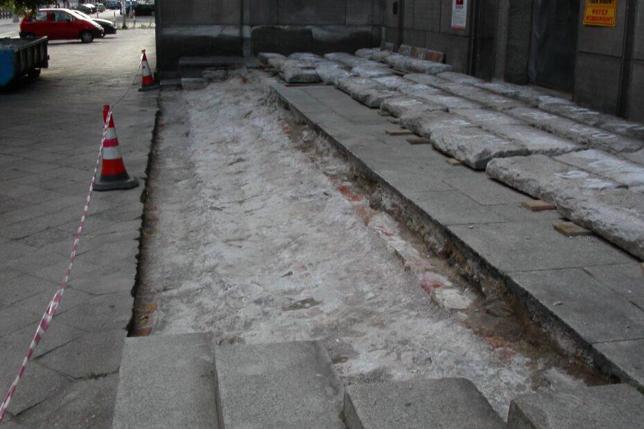 Remont schodów w ministerstwie Skarbu
