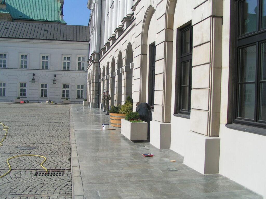 elewacja pałacu prezydenckiego w warszawie